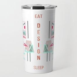 Eat Design Sleep Rose Gold Travel Mug