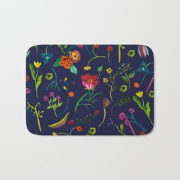 Floral love I pattern Bath Mat