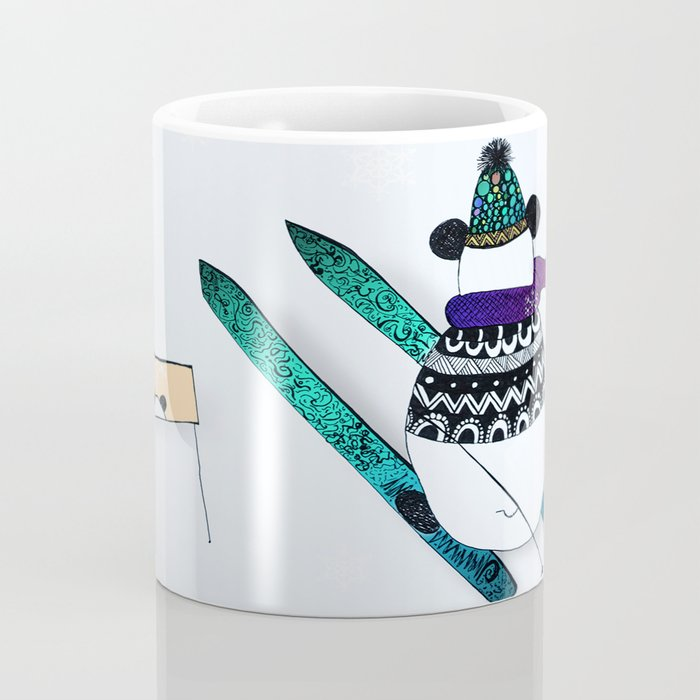 Pandas gone skiing Coffee Mug