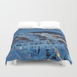 Santorini Nights Duvet Cover
