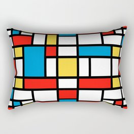 Mondrian design, abstract pattern Rectangular Pillow