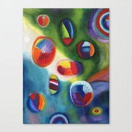 floating circles Canvas Print