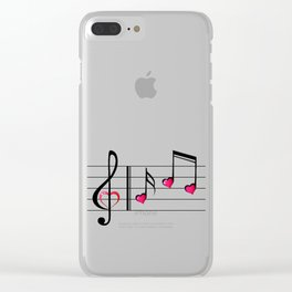 Music love concept Clear iPhone Case
