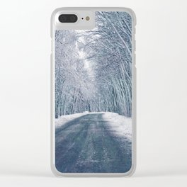 DRIVE - WAY - SNOW - PHOTOGRAPHY Clear iPhone Case