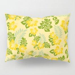Hawaiian Pattern - Yellow Pillow Sham