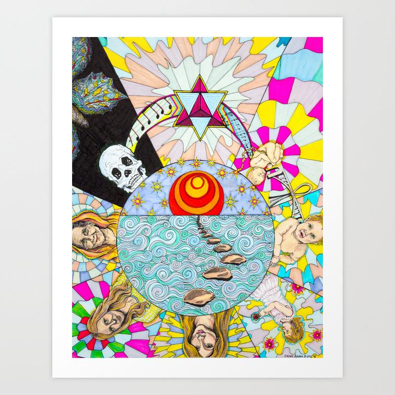 Samsara Art Print By Caseyarden Society6