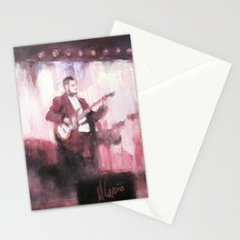 Saxo and guitar. Jazz concert Stationery Cards