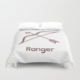 Cute Dungeons and Dragons Ranger class Duvet Cover