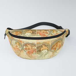 "Alphonse Mucha ""The Arts: Music, Poetry, Painting, Dance (series)"" Fanny Pack"