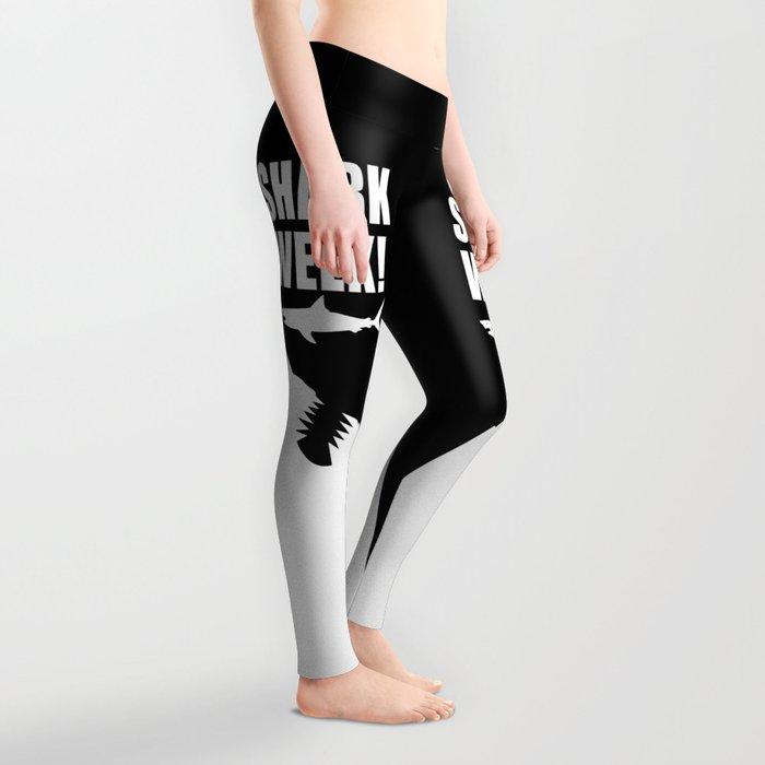 Shark week (on black) Leggings