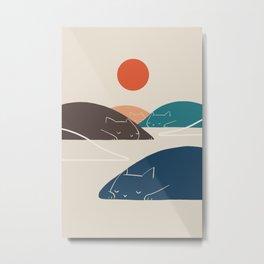 Cat Landscape 1 Metal Print