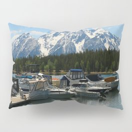 Pleasure Crafts on Jackson Lake Pillow Sham