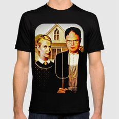Dwight Schrute & Angela Martin (The Office: American Gothic) MEDIUM Black Mens Fitted Tee
