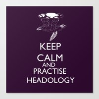 discworld Canvas Prints featuring discworld - keep calm and practise headology by Rebecca McGoran