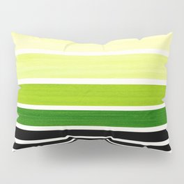 Sap Green Minimalist Mid Century Modern Color Fields Ombre Watercolor Staggered Squares Pillow Sham