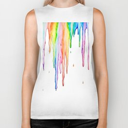 Colorful Icicles Biker Tank