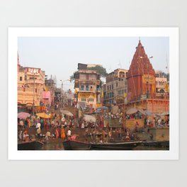 The Sacred Ganges River in India (2004d) Art Print