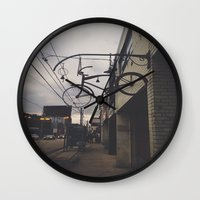 bicycles Wall Clocks featuring Bicycles by Wanderlust Fhotos