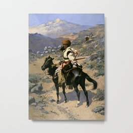 "Frederic Remington Western Art ""An Indian Trapper"" Metal Print"