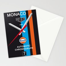 Monaco Tag Heuer Watch, Steve McQueen Le Mans Vintage Poster Decoration Stationery Cards