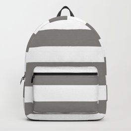 Titanium - solid color - white stripes pattern Backpack