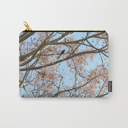 Rowan tree branches with berries and bird Carry-All Pouch
