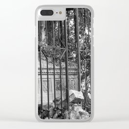 old gate & grave Clear iPhone Case