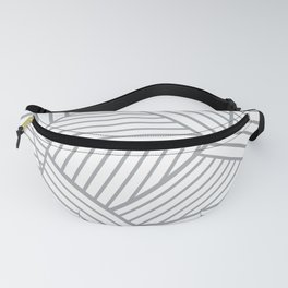 Abstraction Lines Zoom Grey Fanny Pack