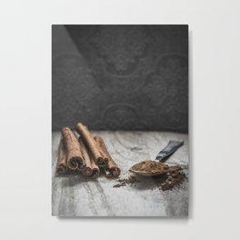 Cinnamon art #food #stilllife Metal Print