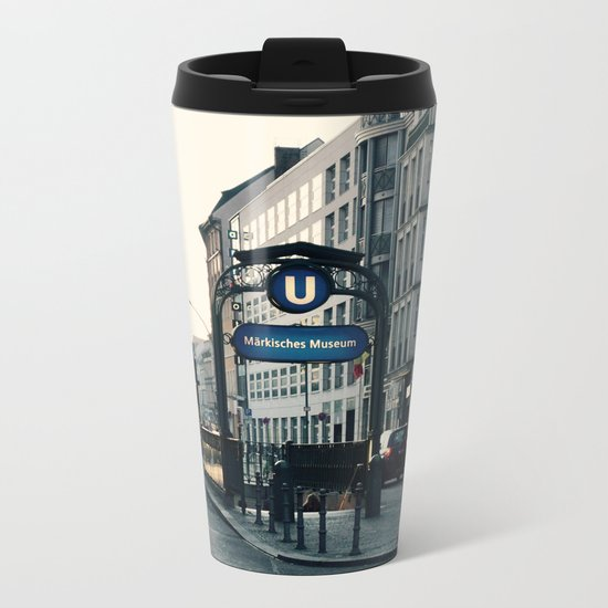 Subway 3 Metal Travel Mug