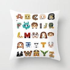 ABC3PO Throw Pillow