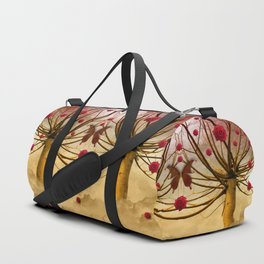 Once upon a time, and far away, Red Roses grew to the Willows... Duffle Bag