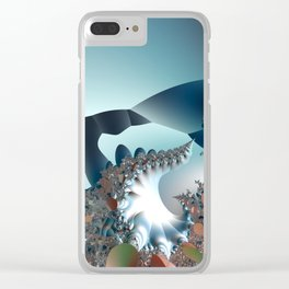 On the Edge of a Fantasy Landscape -- fractal art by Twigisle at Society6 Clear iPhone Case