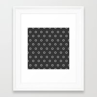 circles Framed Art Prints featuring Circles by NobuDesign