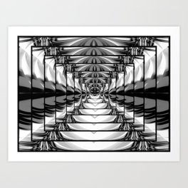Abstract.Black+White. Art Print
