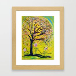 A Tree Planted by the Water Framed Art Print