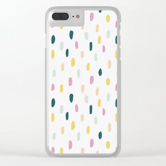 Colorful rain dot Clear iPhone Case