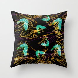 Corals and Crustaceans Burst Throw Pillow