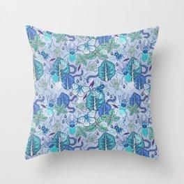 Frozen bugs in the garden Throw Pillow