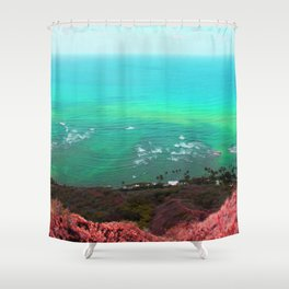 Face of the earth Shower Curtain