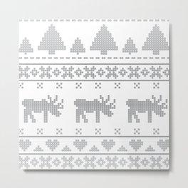 Norvegian Grey Metal Print