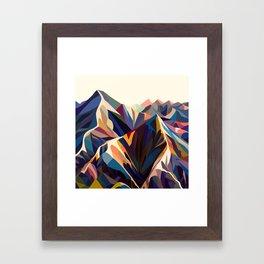 Mountains original Framed Art Print