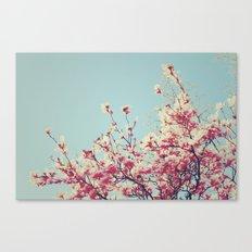 Retro Blossoms Canvas Print