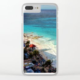 I really love Cancun. Clear iPhone Case