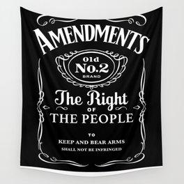 2nd Amendment Whiskey Bottle Wall Tapestry