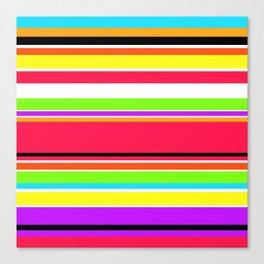 Colorful Stripes Geometric Print Pattern Design Canvas Print