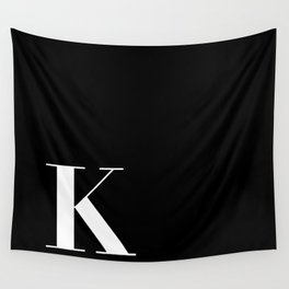 Initial K Wall Tapestry