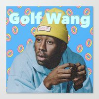 tyler the creator Canvas Prints featuring Tyler The Creator by Emma Scintu