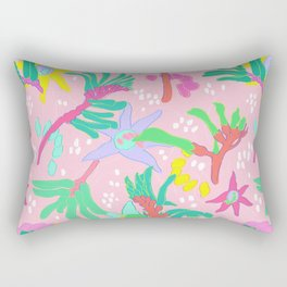Australian Kangaroo Paw Floral in Pink Rectangular Pillow