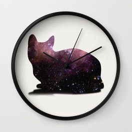 Willow the Galaxy Cat! Wall Clock